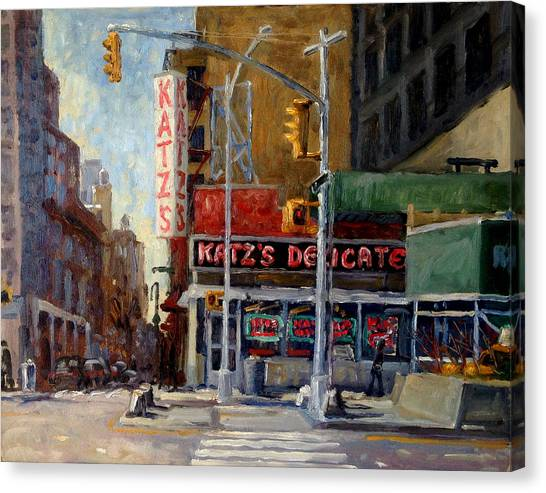 Katz's Delicatessen, New York City Canvas Print