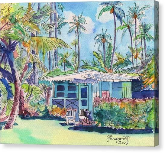 Kauai Blue Cottage 2 Canvas Print