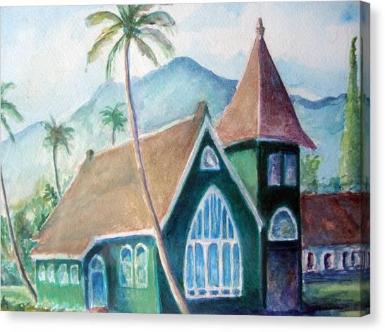 Kauai Church Canvas Print by Mike Segura