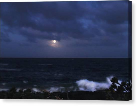 Kauai Moon At Poipu Canvas Print