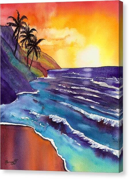 Kauai Na Pali Sunset Canvas Print