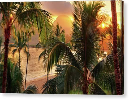 Olena Art Kauai Tropical Island View Canvas Print