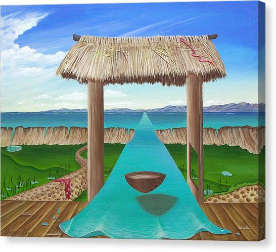 Kava Flow Canvas Print by Sharon Ebert