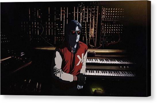 Synthesizers Canvas Print - Kavinsky by Maye Loeser