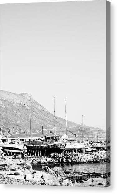 Kavonisi Harbour Canvas Print by Gabriela Insuratelu