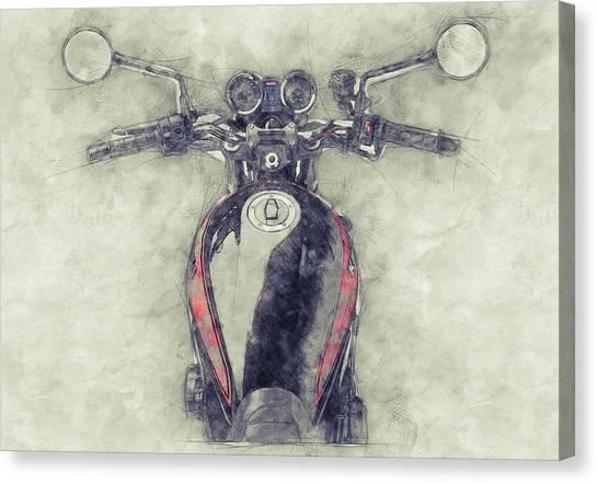 1972 Canvas Print - Kawasaki Z1 - Kawasaki Motorcycles 1 - 1972 - Motorcycle Poster - Automotive Art by Studio Grafiikka