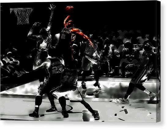 Mba Canvas Print - Kawhi Leonard Nasty Slam by Brian Reaves