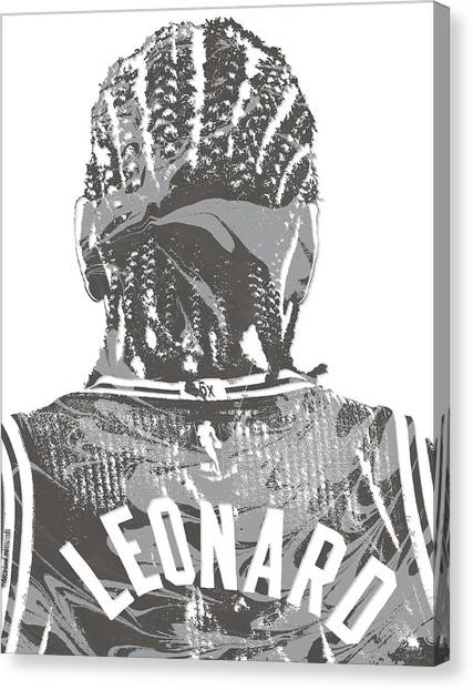 Spurs Canvas Print - Kawhi Leonard San Antonio Spurs Pixel Art 19 by Joe Hamilton