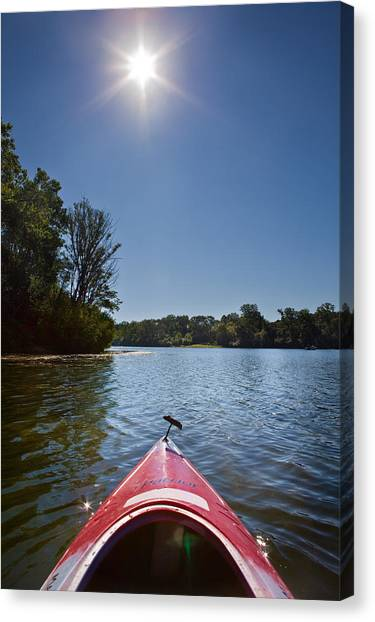 Kayaks Canvas Print - Kayak Morning by Steve Gadomski