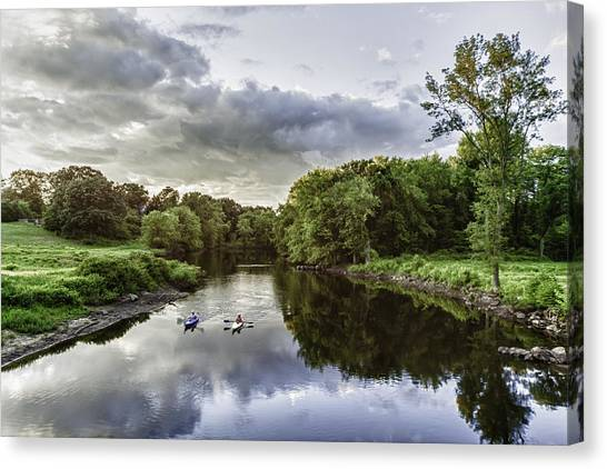 Kayakers Canvas Print by Kate Hannon