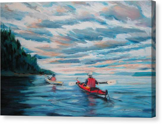 Kayakers Canvas Print