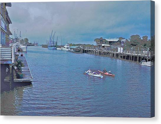 kayaking on Shem Creek Canvas Print