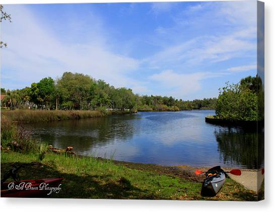 Kayaking The Cotee River Canvas Print