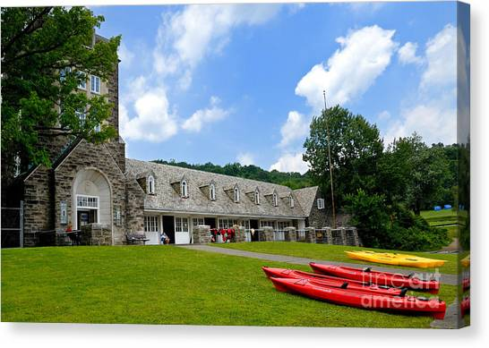 Rowboats Canvas Print - Kayaks At Boat House North Park Pittsburgh Pennsylvania by Amy Cicconi