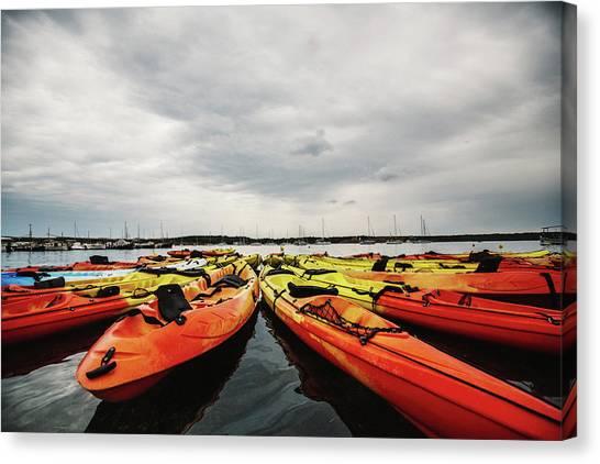 Kayaks Canvas Print
