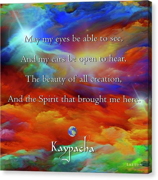 Kaypacha August 17,2016 Canvas Print