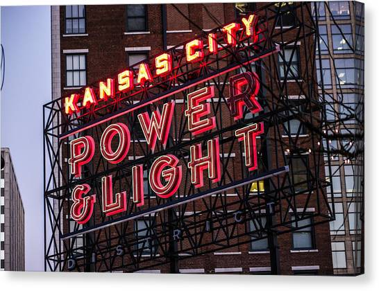 Kc Power And Light Canvas Print