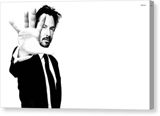 Keanu Reeves Canvas Print - Keanu Reeves by Dorothy Binder