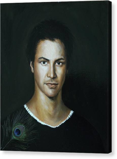 Keanu Reeves Canvas Print - Keanu Reeves by Eva Santi