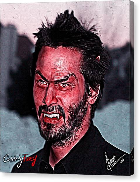 Keanu Reeves Canvas Print - Keanu Reeves by Gene Spino