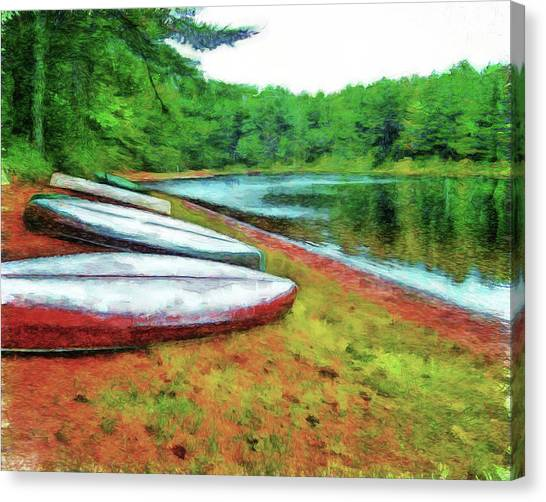 Kearney Lake Beach Canvas Print