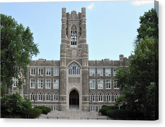 The Exorcist Canvas Print - Keating Hall Fordham University by Mike Quinn
