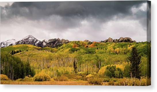Canvas Print featuring the photograph Kebler Pass by Stephen Holst