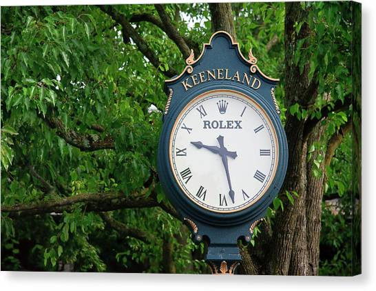 Keeneland Clock Canvas Print