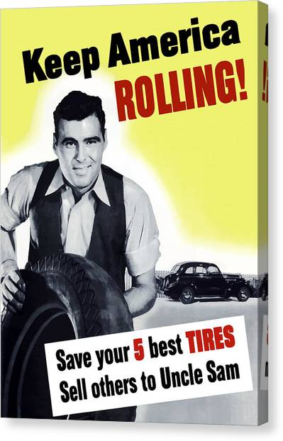 Conservation Canvas Print - Keep America Rolling by War Is Hell Store