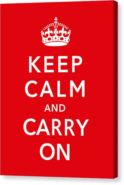 England Canvas Print - Keep Calm And Carry On by War Is Hell Store