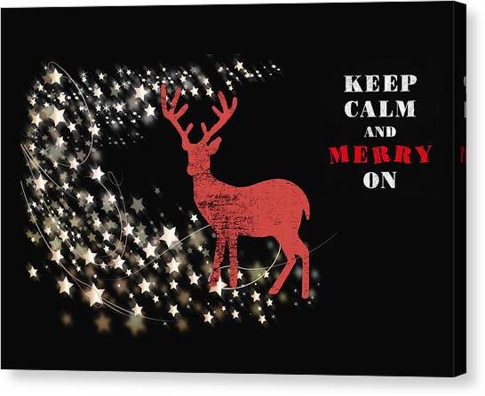 Canvas Print - Keep Calm - Merry On by Amanda Lakey