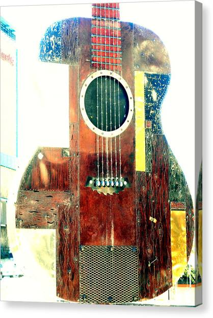 Slide Guitars Canvas Print - Keep On Rockin' 2 by Dietmar Scherf