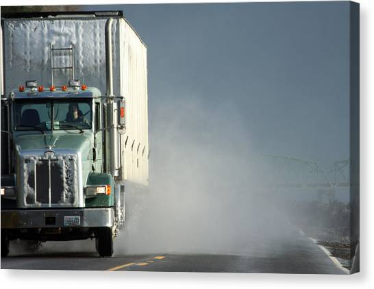 Truck Driver Canvas Print - Keep On Truckin'... by Holly Ethan