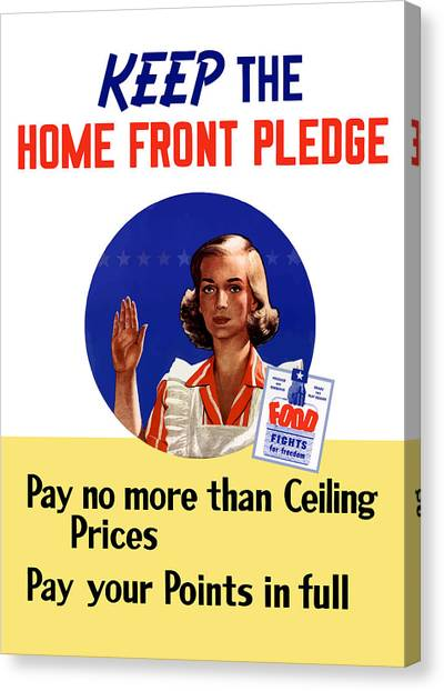 Conservation Canvas Print - Keep The Home Front Pledge by War Is Hell Store