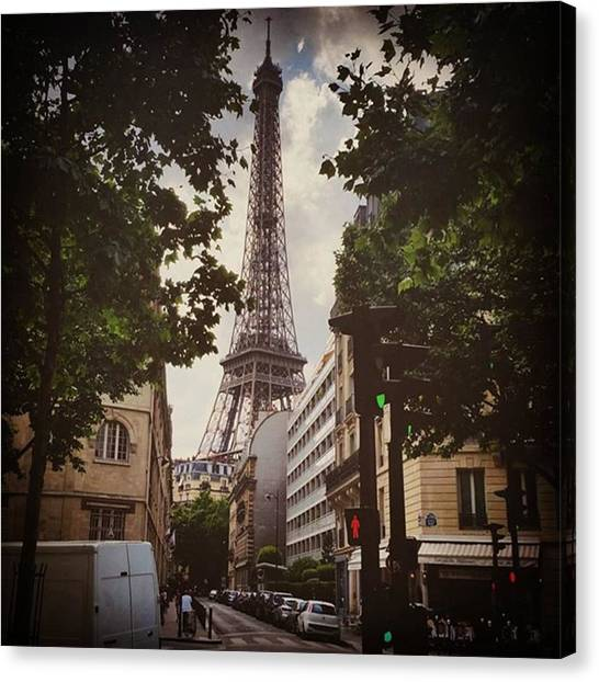 Paris Skyline Canvas Print - Keep Your Eyes Open Because Beauty Is by Jenny Jen