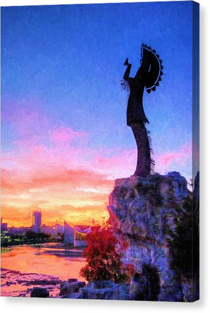Keeper Canvas Print - Keeper Of The Plains by JC Findley