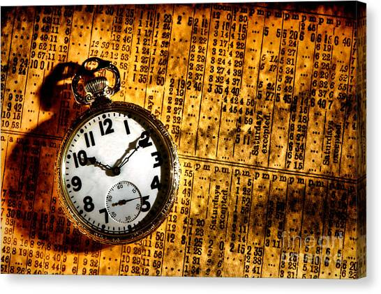 Train Conductor Canvas Print - Keeping The Railroad On Time by Olivier Le Queinec