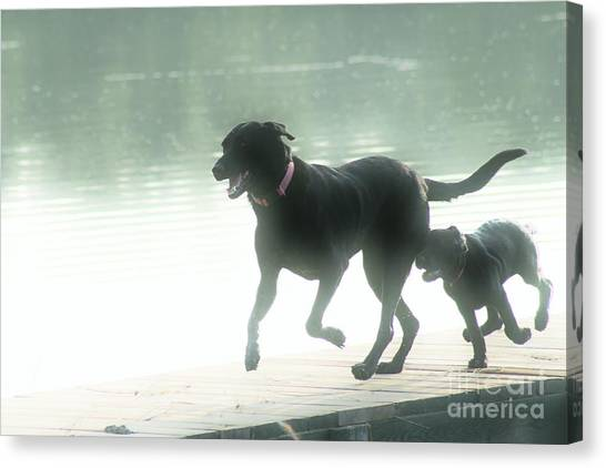 Fun Run Canvas Print - Keeping Up With Mom by Craig Grace