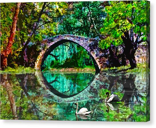Kefalos Bridge Cyprus Canvas Print