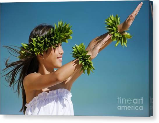 Hawaii Canvas Print - Keiki Hula by Ron Dahlquist - Printscapes