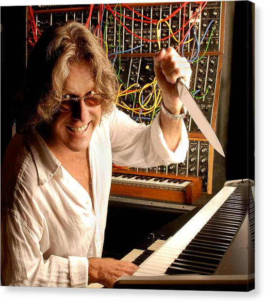 Synthesizers Canvas Print - Keith Emerson By Gene Martin by David Smith