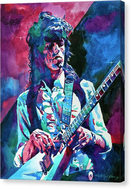 Rolling Stones Canvas Print -  Keith Richards A Rolling Stone by David Lloyd Glover