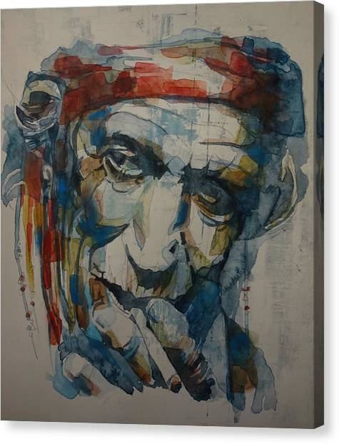 Concerts Canvas Print - Keith Richards Art by Paul Lovering