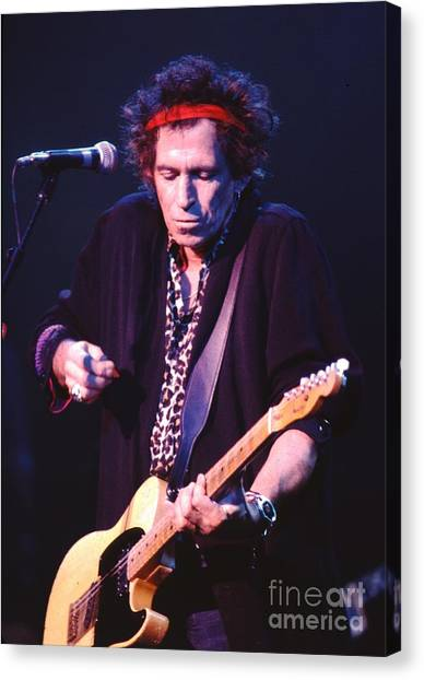 Rolling Stones Canvas Print - Keith Richards by Concert Photos