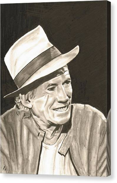 Keith Richards Canvas Print