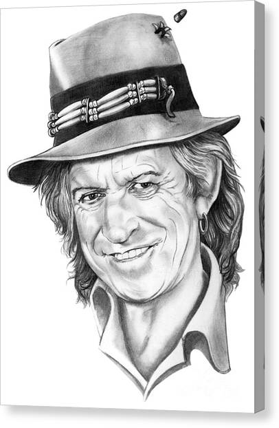 Rolling Stones Canvas Print - Keith Richards by Murphy Elliott