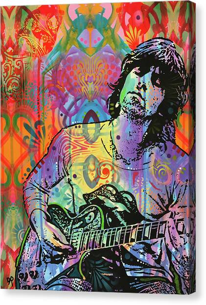Rolling Stones Canvas Print - Keith Richards Zone by Dean Russo Art