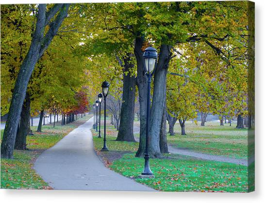 Canvas Print featuring the photograph Kelly Drive In Autumn by Bill Cannon