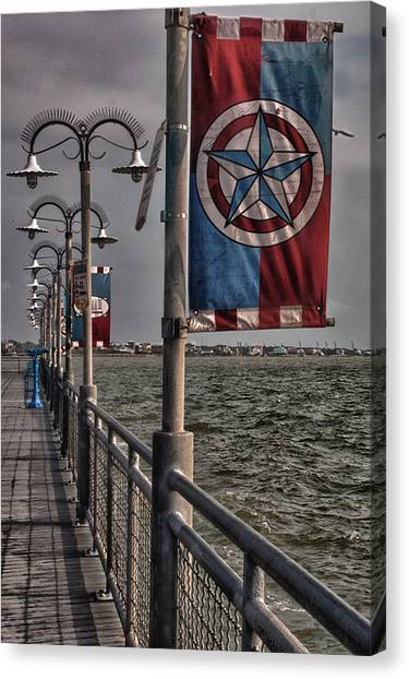 Kemah Boardwalk Canvas Print