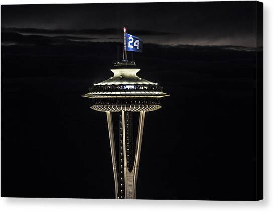 Seattle Mariners Canvas Print - Ken Griffey Jr. Space Needle by Matt McDonald